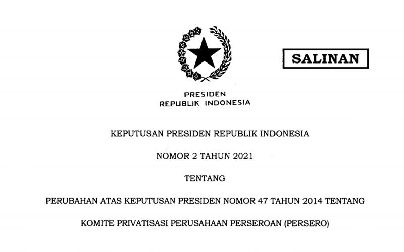 Keppres Baru! Jokowi Tambah Anggota Komite Privatisasi BUMN