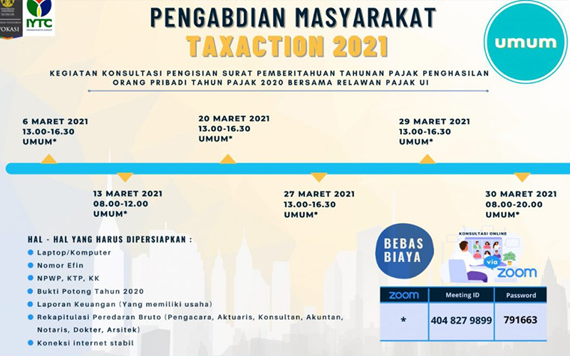 Vokasi UI Gelar Taxaction 2021, Wajib Pajak Bisa Konsultasi Soal SPT