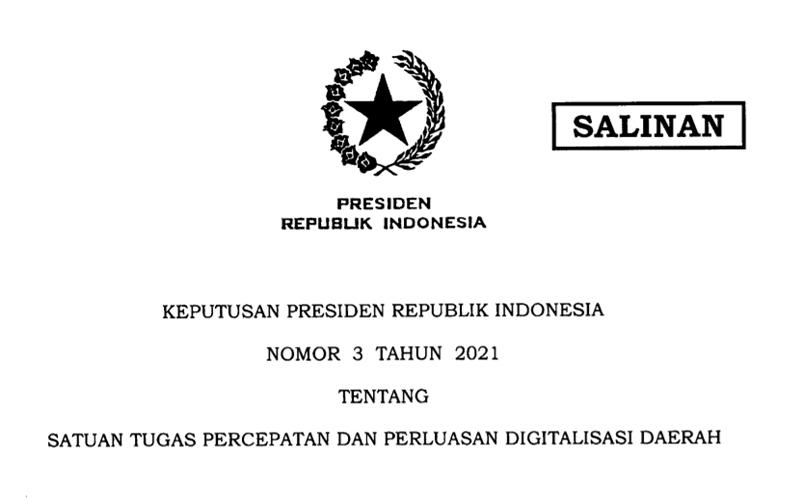 Pacu Penerimaan Daerah, Jokowi Bentuk Satgas Digitalisasi