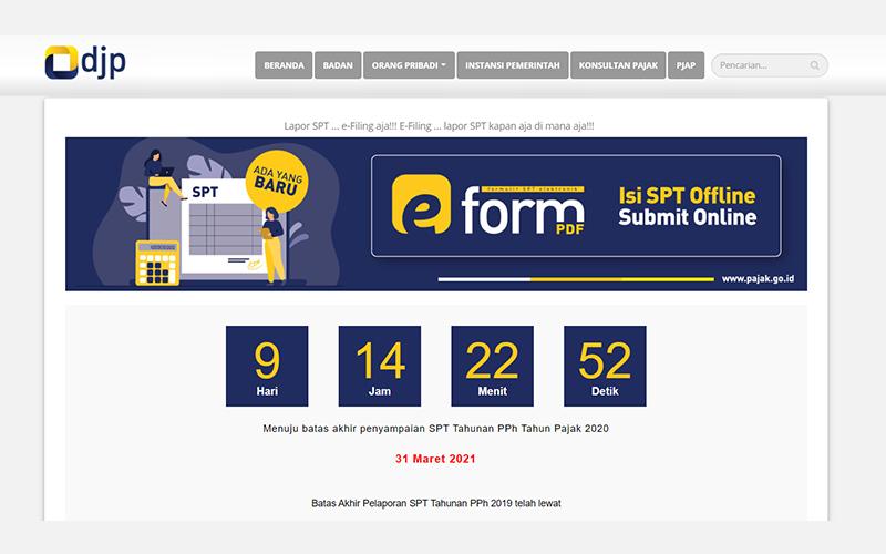 Deadline 9 Hari Lagi! Anda Sudah Lapor Lewat e-Filing DJP Online?
