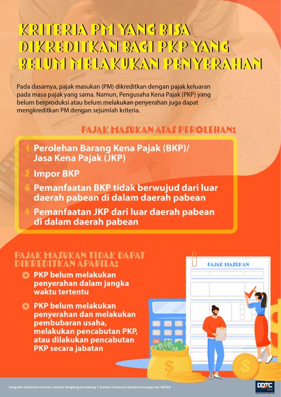 Kriteria Pajak Masukan yang Bisa Dikreditkan PKP Belum Berproduksi