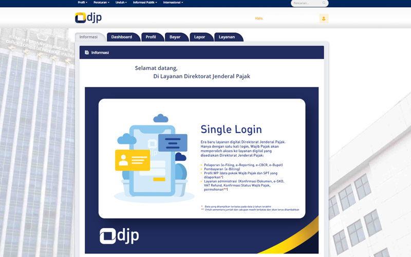 Layanan DJP Online dan Pemindahan Tempat WP Terdaftar Terpopuler