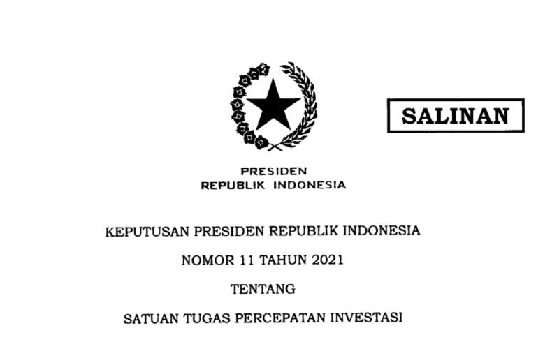 Terbitkan Keppres Baru, Jokowi Bentuk Satgas Investasi