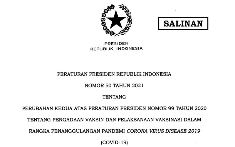 Soal Pengadaan Vaksin oleh Badan Usaha, Jokowi Terbitkan Perpres Baru
