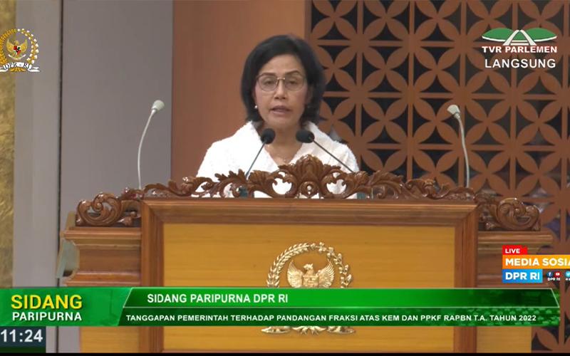 Minta Dukungan DPR, Sri Mulyani Optimistis Rasio Pajak 2022 Meningkat
