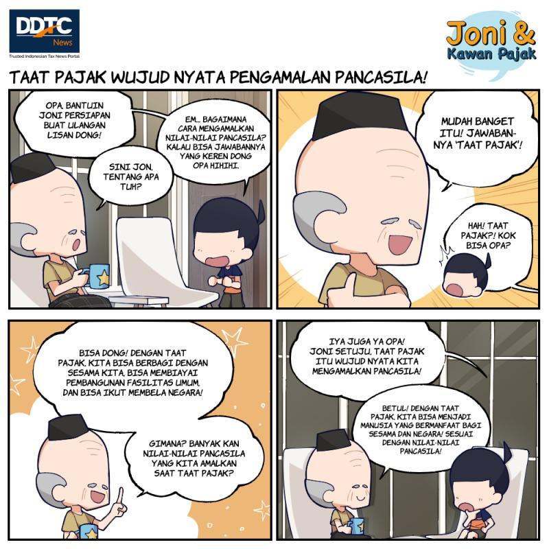 Taat Pajak Wujud Nyata Pengamalan Pancasila!