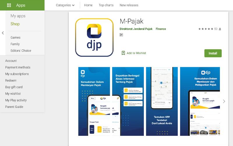 DJP Luncurkan Aplikasi M-Pajak, Sudah Download?