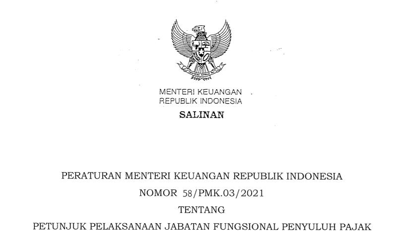 Baru Terbit, Petunjuk Pelaksanaan Jabatan Fungsional Penyuluh Pajak