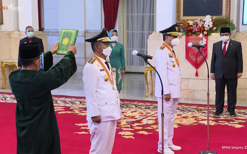 Dilantik Sebagai Gubernur Sulteng, Rusdi Janjikan Optimalisasi PAD