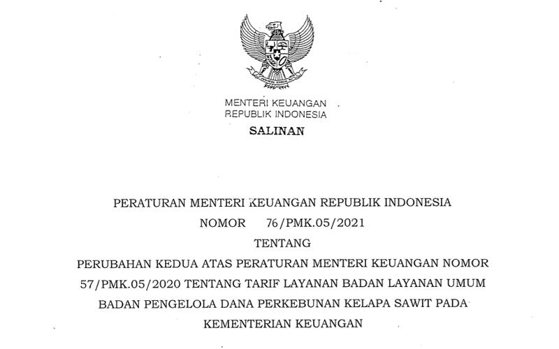 PMK 76/2021 Terbit, Ini Skema Baru Pungutan Ekspor CPO