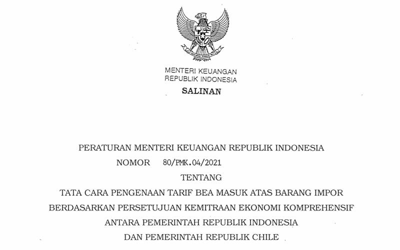 Indonesia Terapkan Tarif Preferensi Barang Impor dari Chile