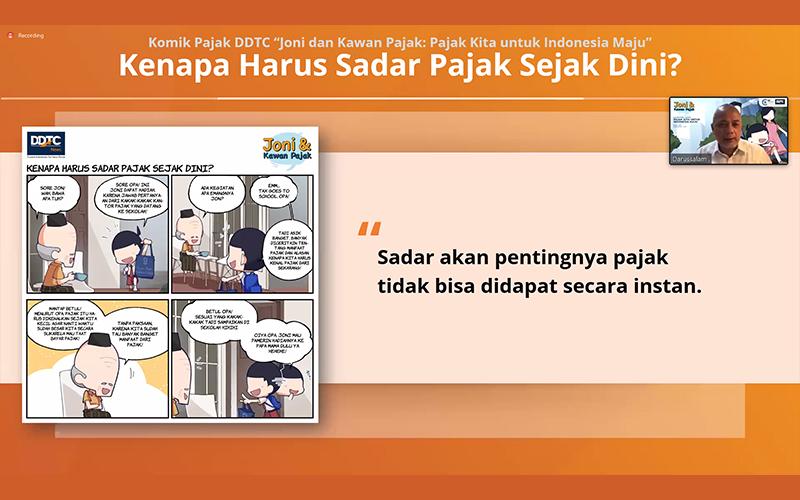 Peluncuran Buku Komik DDTC, Pajak Harus Dinarasikan Sebagai Kebutuhan