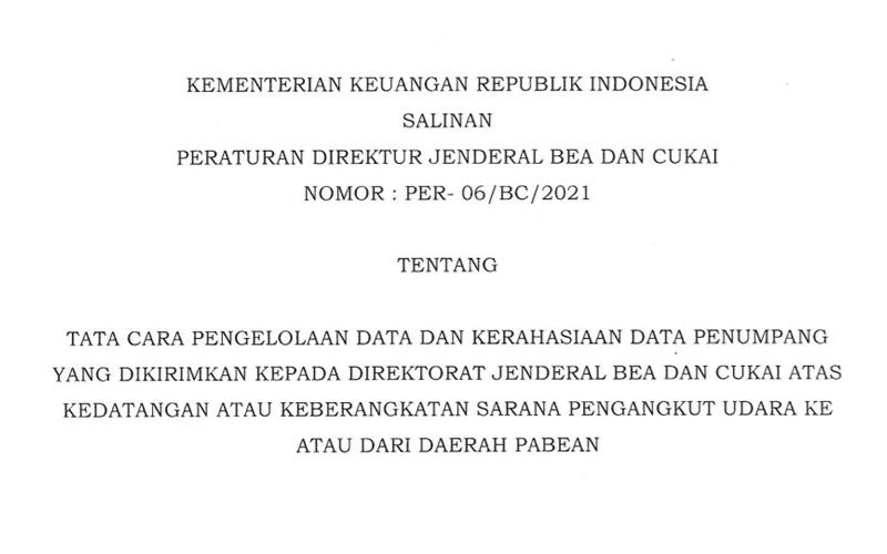 Bea Cukai Rilis Peraturan Baru Soal Kerahasiaan Data Penumpang Pesawat