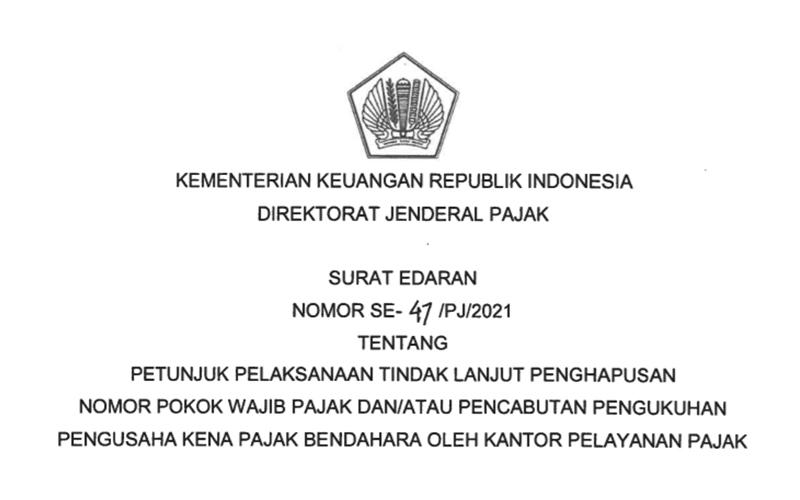 DJP Terbitkan Surat Edaran Baru Soal Penghapusan NPWP Bendahara
