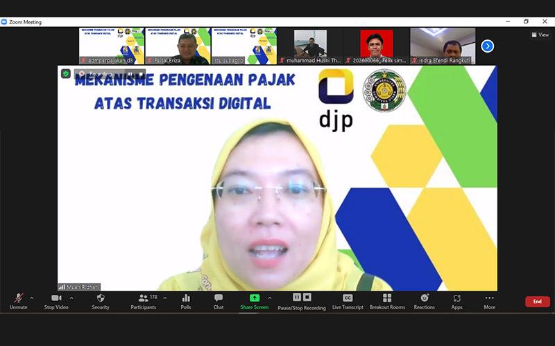 Gelar Webinar, USU & Kanwil DJP Sumut I Bahas Pajak Transaksi Digital